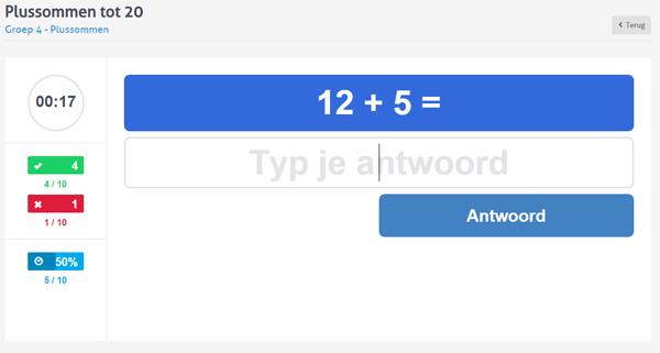 Goede Rekenen oefenen groep 3, 4, 5, 6, 7 en 8 bij Rekenen.nl DT-68